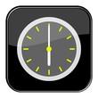 Glossy Button schwarz - 6:00 Uhr / 18:00 Uhr