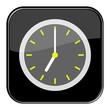 Glossy Button schwarz - 7:00 Uhr / 19:00 Uhr
