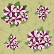 бесшовный фон из цветов петунии, обои, Print
