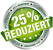 "Button Banner ""25% reduziert"" grün/silber"