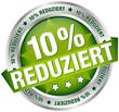 "Button Banner ""10% reduziert"" grün/silber"