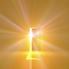 光が差し込むドア