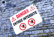panneau interdiction danger