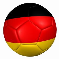 3d balón bandera Alemania