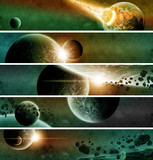 Planet apocalypse web banner collection