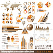 Premium infographics master collection: graphs, histograms...