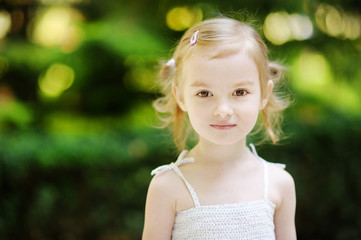 Adorable little girl portrait outdoors