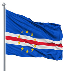 Waving flag of Cape Verde