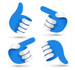 Vector illustration paper hands.