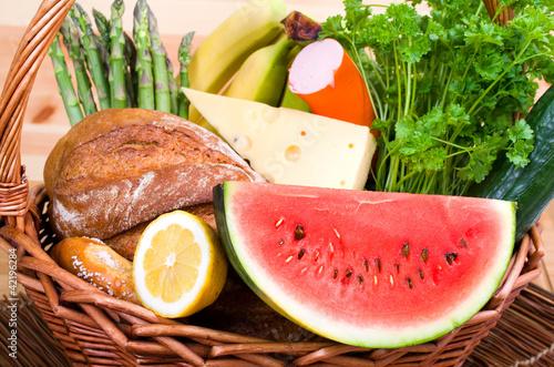 gesunder Picknickkorb