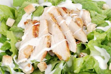 Macro of chicken cesar salad