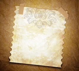 grunge texture background with old note page.