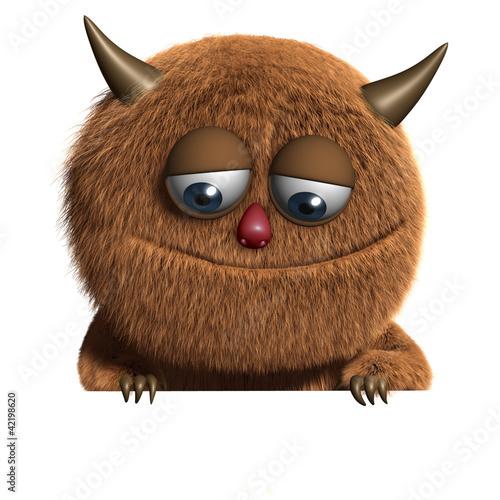 Ilustración cute furry alien