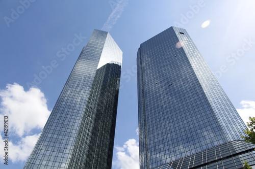 Deurstickers Aan het plafond Hochhäuser Frankfurt