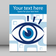 Striking eye leaflet design.