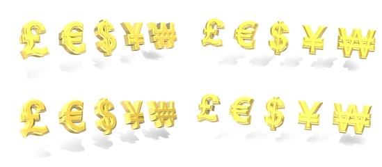 パウンド ユーロ ドル 円 ウォン 通貨 シンボル