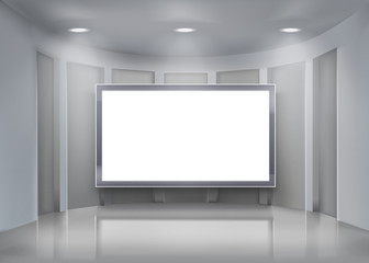 Projection screen.  Vector illustration.