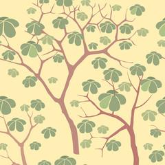 бесшовный фон из растительных мотивов в китайском стиле, обои