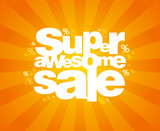 Fototapety Super awesome sale design template.