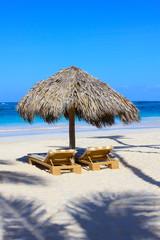 Cabana in Okinawa Beach, Japan