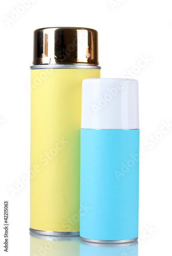 aerosol cans isolated on white