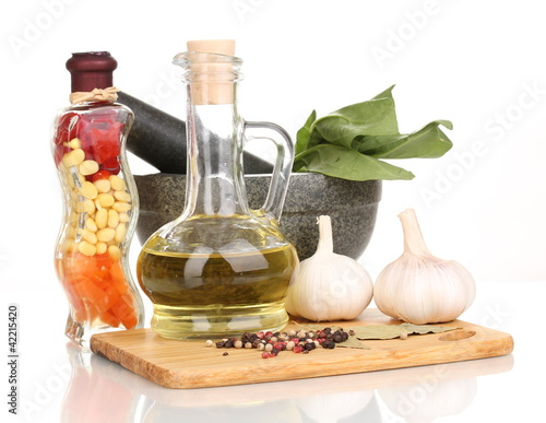 ingredients and spice isolated on white