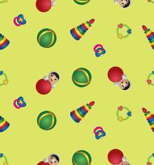 бесшовный фон из детских игрушек, Print