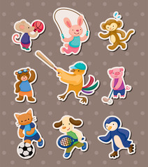 animal sport stickers
