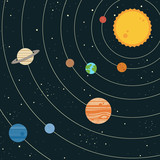 Fototapety Solar system illustration