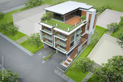 3d rendering building