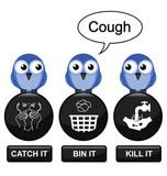 Flu prevention message poster