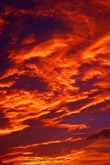 Himmel in rot