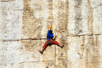 Climber on the wall.