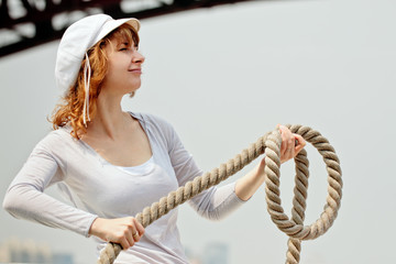 Pretty girl and rope