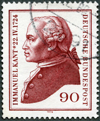 GERMANY- 1974: shows Immanuel Kant (1724-1804), philosopher