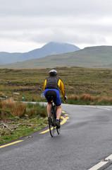 Cycliste au Connemara