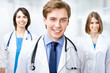 Doctor with colleagues