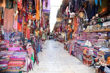 Souq in the Old part of Jerusalem, Israel.