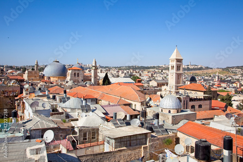 Panoramic view on old part of Jerusalem city