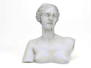 Venere volto femminile scultura