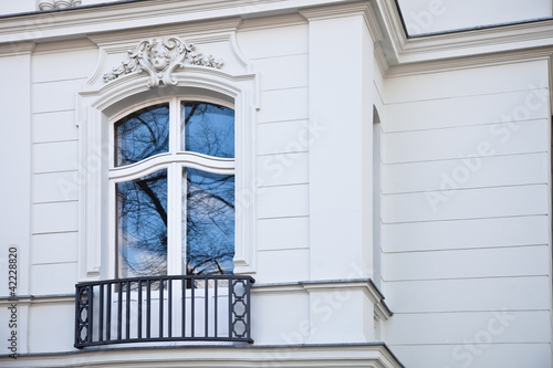 villa mit franz sischer balkon in berlin stockfotos und. Black Bedroom Furniture Sets. Home Design Ideas