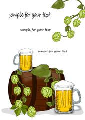 Fass, Bier und Hopfen