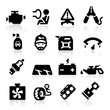 canvas print picture - Cart parts icons set  Elegant series