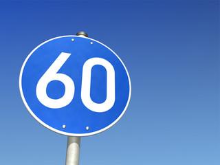 60 km/h Mindestgeschwindigkeit
