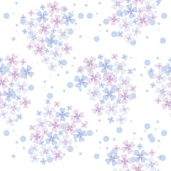 seamless pattern of lilac flowers
