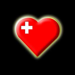 Coeur drapeau Suisse