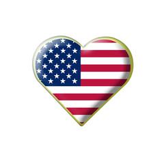 Coeur drapeau États-Unis d'Amérique