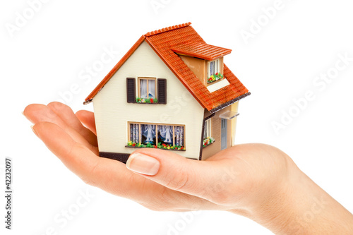 house in human hands