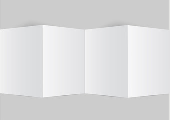 close up of a leaflet blank white paper vector background