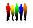 Jeune groupe coloré